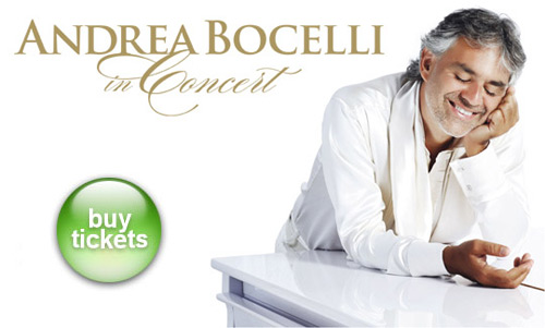 Andrea Bocelli Tickets New Jersey